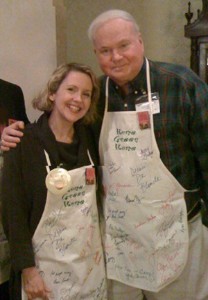 Pat Conroy and Lauretta Hannon
